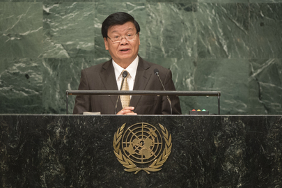 Prime Minister of Lao People's Democratic Republic, Addresses General Assembly