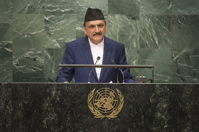Foreign Minister of Nepal Addresses General Assembly