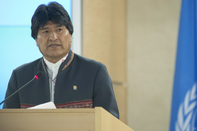 President of Bolivia Addresses Human Rights Council