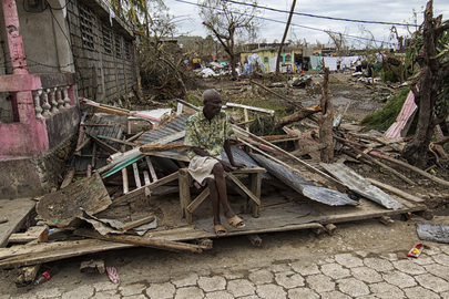 Aftermath of Hurricane Matthew Devastation in Les Cayes, Haiti