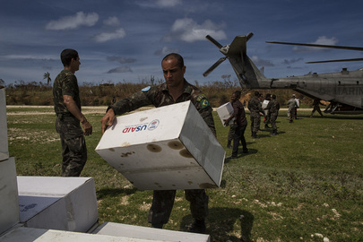 Distribution of Emergency Supplies in Jeremie, Haiti in Wake of Hurricane Mathew