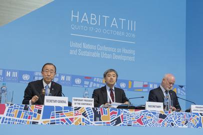Secretary-General Attends Opening of Habitat III
