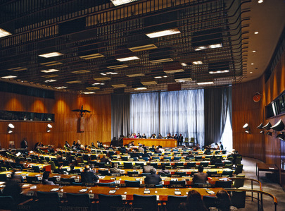 Interior View of Trusteeship Council Chamber
