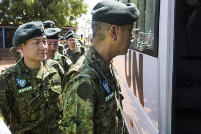 Japanese Contingent Arrives at UNMISS