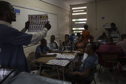 Counting of Ballots During Election Day in Haiti