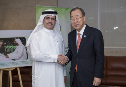 Secretary-General Meets CEO of Dubai Electricity and Water