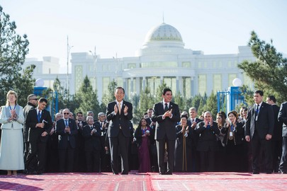 Secretary-General Opens New UN House in Turkmenistan