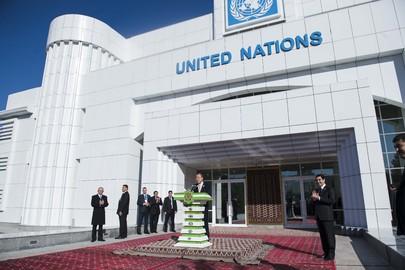Secretary-General Opens New UN House in Turkmenistan