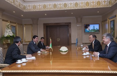 Secretary-General Meets President of Turkmenistan