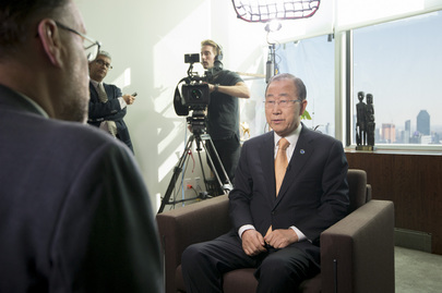 Secretary-General is Interviewed by Al Jazeera