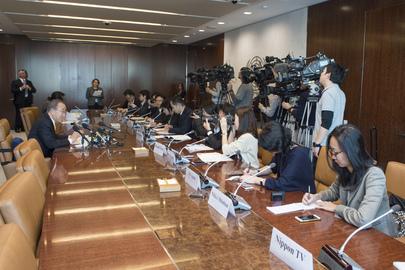 Secretary-General Interviewed by Japanese Media