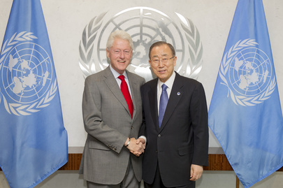 Secretary-General Meets Former President of United States
