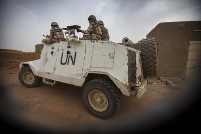 Chadian MINUSMA Peacekeepers Patrol Streets of Kidal