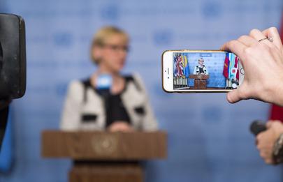 Security Council President Briefs Press