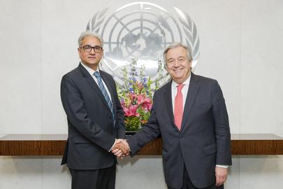 Secretary-General Meets Head of UN Board of Auditors