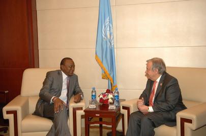 Secretary-General Meets President of Kenya