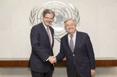 Secretary-General Meets Permanent Representative France