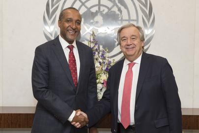 Secretary-General Meets Permanent Representative of Kenya