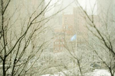 Snow Falls at UNHQ