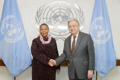 Secretary-General Meets Women's Minister of South Africa