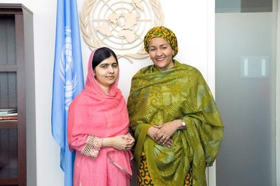 Deputy Secretary-General Meets Malala Yousafzai
