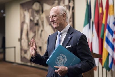UN Envoy for Syria Briefs Press