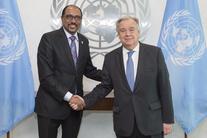 Secretary General Meets Executive Director of UNAIDS