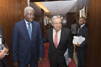 Secretary General Meets Chairperson of African Union Commission