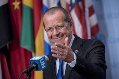Head of Libya Mission Briefs Press