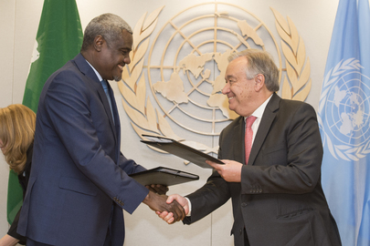 Signing of Joint AU-UN Framework for Enhancing Partnerships on Peace and Security