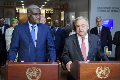 Secretary-General and AU Chairperson Address Press on Partnerships for Peace and Security in Africa