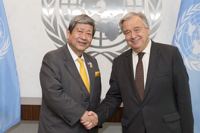 Secretary-General Meets Head of International Association of University Presidents