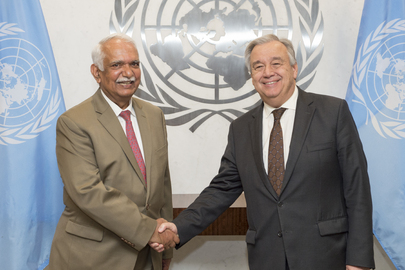 Secretary-General Meets Outgoing UNIFIL Director of Mission Support