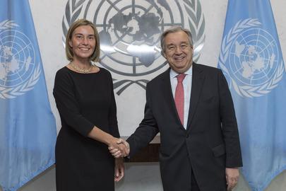 Secretary-General Meets EU High Representative for Foreign Affairs