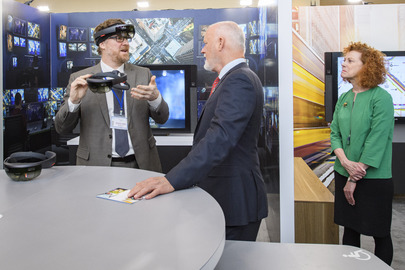 President of General Assembly Visits Microsoft Exhibit at UN Headquarters