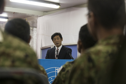 Departing Japanese Contingent Hands Over Heavy Equipment to UNMISS