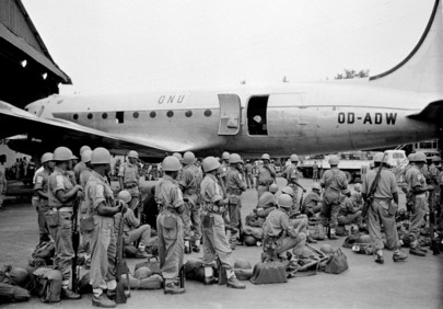 Ethiopian Brigade Leaves the Congo