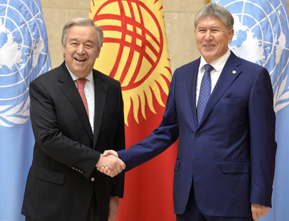 Secretary-General Meets President of Kyrgyzstan