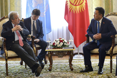 Secretary-General Meets Speaker of Kyrgyz Parliament