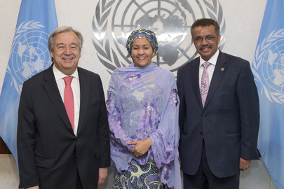 Secretary-General Meets Incoming Head of WHO