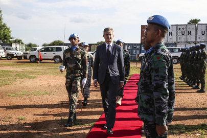 UN Peacekeeping Chief Visits POC Site in Malakal, South Sudan