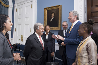 Secretary-General Meets Mayor of New York City