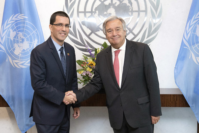 Secretary-General Meets Foreign Minister of Venezuela