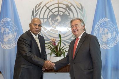 New Permanent Representative of Kiribati Presents Credentials