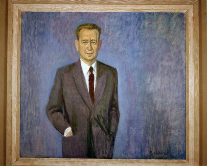 Portrait of Dag Hammarskjöld by Bo Beskow