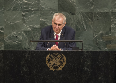 President of Czech Republic Addresses Seventy-second General Debate
