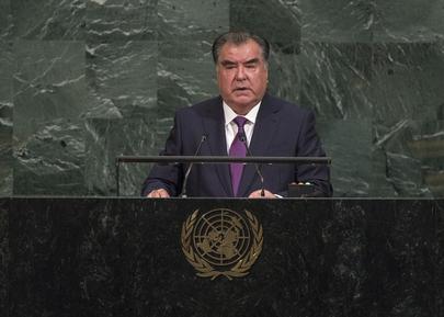 President of Tajikistan Addresses General Assembly