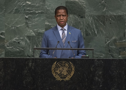 President of Zambia Addresses General Assembly