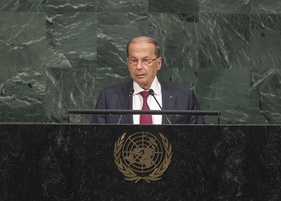 President of Lebanon Addresses General Assembly
