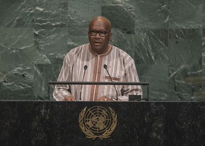 President of Burkina Faso Addresses General Assembly